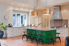 Island - pop of color - love it! Standeven - contemporary - kitchen - other metro - Stuart Wood Joinery