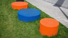 Panache Straatmeubilair Mobilier Urbain Merk Durbanis Tap zitzuilen cilinder zitcilinder Urban Furniture, Outdoor Furniture, Outdoor Decor, Urban Design, Benches, Home Decor, Street Furniture, Seating Areas, Banks