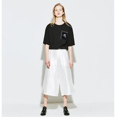 Comfortable and fashionable wide leg pants from VING.Description:Closure Type: Zipper FlyFabric Type: BroadclothBrand Name: ToyouthFit Type: LooseMaterial: Poly T Shirts For Women, Clothes For Women, Half Sleeves, Jeans Style, Wide Leg Pants, New Look, Normcore, Style Inspiration, Pullover