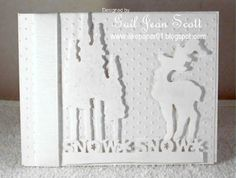 White Christmas Card Front