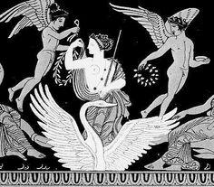 Aphrodite in Greek mythology with Cupid, engravings on vase Greek Gods And Goddesses, Greek Mythology, Roman Mythology, Ancient Greek Art, Ancient Greece, Aphrodite Goddess, Owl Wings, Goddess Of Love, Mythical Creatures