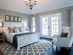 cool 74 Incredible Cozy Farmhouse Master Bedroom Ideas. More at https://homessive.co/2017/05/01/74-incredible-cozy-farmhouse-master-bedroom-ideas/