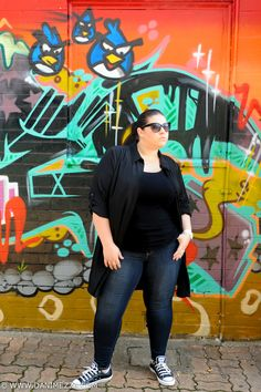 Aussie Curves Plus Size Fashion Blogger Outfit Curvy Angry Birds Danimezza Androgynous