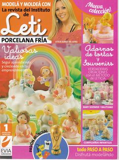 Cold Porcelain magazine 1 (2014)  by Leticia Suarez del Cerro (Spanish) Christmas Projects Step by Step - Porcelana fria - Biscuit - Clay
