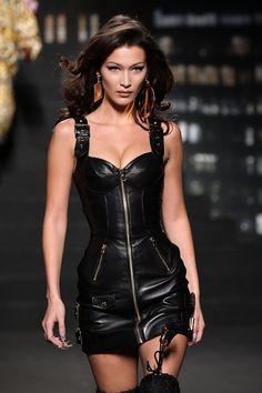 Bella Hadid Poses in Underwear, Knee-High Snakeskin Boots, & Nothing Else- HarpersBAZAAR.com