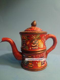 Antique Qing Dynasty cloisonne teapot