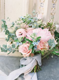 Spring Bouquet - Pink with a Hint of Blue - Photo courtesy of Sawyer Baird Photography