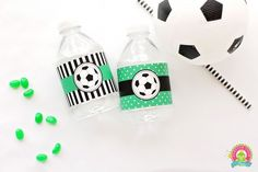 Free soccer bottle wrap printables by forever your prints. Soccer Birthday Parties, Soccer Party, Soccer Theme, Soccer Cake, Soccer Snacks, Printable Water Bottle Labels, Water Party, Label Templates, Party Printables