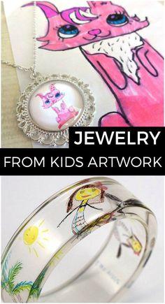 Turn Your Kids Artwork Into Jewelry