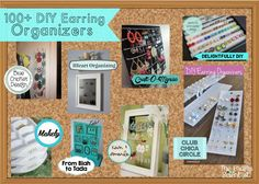 The Crafty Scientist: DIY Earrings Organizers Roundup
