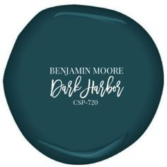 Benjamin Moore's Dark Harbor paint, color for built ins: casing, shelves, and wall all monochrome