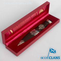 Crichton Clan Crest Sgian Dubh