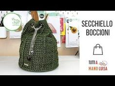 Tutorial: borsa secchiello all'uncinetto - YouTube