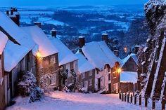 Gold Hill, Dorset, England