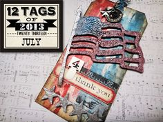 12 tags of 2013 – july…  cool way to use distress stains in a very different way – here we go…