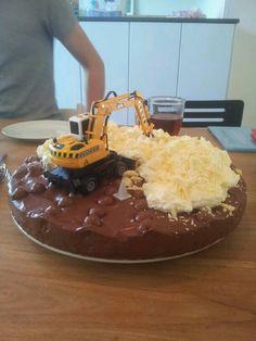 Chocolade verjaardagstaart voor een jongen!
