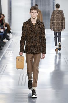 A look from the Louis Vuitton Men s Fall 2015 Fashion Show from Men s Style  Director Kim 583f75aaf023