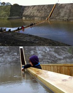 "Sunken Pedestrian Bridge / ""The Moses Bridge"" in the Netherlands, designed by RO & AD Architects."