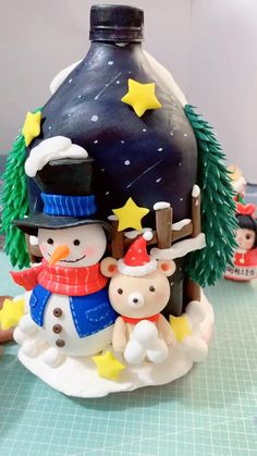 Polymer Clay Christmas, Polymer Clay Crafts, Diy Clay, Polymer Clay Fairy, Clay Crafts For Kids, Jar Crafts, Pasta Crafts, Craft Kids, Handmade Christmas Decorations