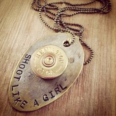 Items similar to Vintage Silverware Hand Stamped Spoon with Shotgun Shell Shoot Like A Girl Bullet Jewelry READY to SHIP on Etsy Ammo Jewelry, Silverware Jewelry, Spoon Jewelry, Bullet Jewelry, Leather Jewelry, Metal Jewelry, Custom Jewelry, Jewelry Crafts, Beaded Jewelry