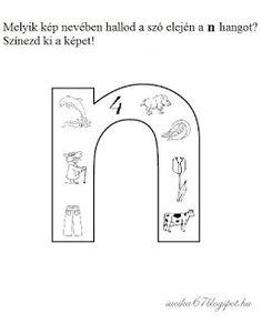 Játékos tanulás és kreativitás: Kisbetűkben képek a hangfelismerés gyakorlásához Dysgraphia, Special Education, Worksheets, Therapy, Letters, Teaching, School, Books, Kids