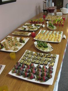 Elegant Corporate event for a great customer! Miscellaneous cold appetizers, dainties, punch and coffee