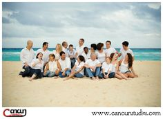Family Group Photography is our Specialty! - MaWhinney Multi-family Holiday session in Cancun