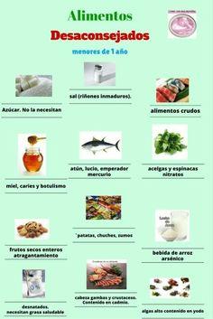 Alimentos desaconsejados el primer año - BLW