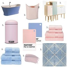 The Design Sheppard - Pantone Colour of the Year 2016 Rose Quartz & Serenity - Products for the Bathroom