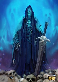 Ghost by Sephiroth-Art Throne Rush wight wraith undead skeleton king wizard necromancer monster beast creature animal | Create your own roleplaying game material w/ RPG Bard: www.rpgbard.com | Writing inspiration for Dungeons and Dragons DND D&D Pathfinder PFRPG Warhammer 40k Star Wars Shadowrun Call of Cthulhu Lord of the Rings LoTR + d20 fantasy science fiction scifi horror design | Not Trusty Sword art: click artwork for source