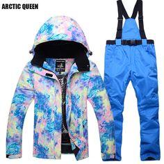 Women s Ski Jacket with Pants Windproof f650c3f6b