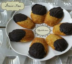 Grain free Cake-like cookie dipped in chocolate