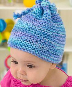 Knit Garter Stitch Baby Hat Knitting Pattern   Red Heart