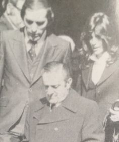 b9cc4edf 1976, Paul Castellano at his cousin Carlo Gambinos funeral. Real Gangster,  Mafia Gangster