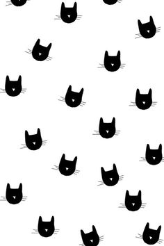 Cat Heads Pattern #iPhone #4s #wallpaper