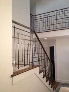 Image result for linear stair spindles modern