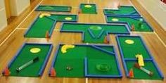 The Leisure Golf Course' contains 27 sq metres of modular astroturf tiles that…