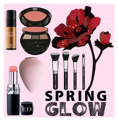 """""""Untitled #16"""" by talyssa-stewart ❤ liked on Polyvore featuring beauty, Christian Dior, Giorgio Armani, Sephora Collection and springglow"""