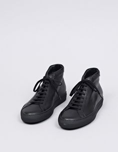 Common Projects Original Achilles Mid Black - Nitty Gritty Store