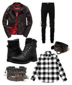 """""""Untitled #251"""" by alisha-dovey on Polyvore featuring Hollister Co., AMIRI, Superdry, Timberland, men's fashion and menswear"""
