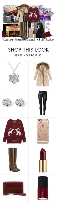 """Winter Wonderland with Luke by catherine-hemmings"" by catherine-hemmings ❤ liked on Polyvore featuring Palm Beach Jewelry, WithChic, Casetify, Sergio Rossi, Urban Decay, Lautēm and NARS Cosmetics"