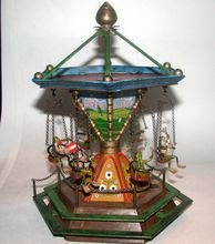 `Bergmann Vienna Bronze Music Box Merry-Go-Round With Six Frogs, MUSEUM QUALITY from Barkus Farms Antiques Collectibles and Fine Art on Ruby Lane
