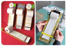 DIY tutorial for Notepad / To-Do List using adding machine paper