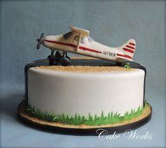 Airplane Runway Groom's Cake