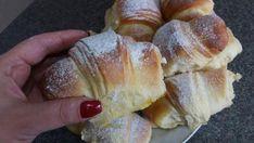Croissante pufoase. – Lorelley.blog Cookie Desserts, No Bake Desserts, Cookie Recipes, Dessert Recipes, Croissant, Bread Baking, Nutella, Deserts, Good Food