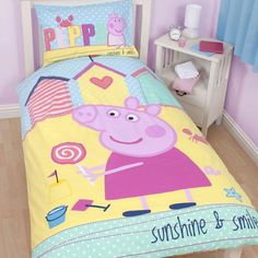 peppa pig bedroom mural | Details about PEPPA PIG BEDDING & BEDROOM DECOR. DUVETS, WALL STICKERS ...