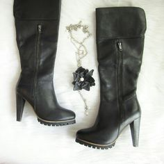 Steve Madden Kazzi boot NWOT New without tags! Never worn! Leather upper. Just over 4 inch stiletto heel. Decorative zipper on outside of ankle and working zipper on inner ankle.   Bundle for best deals! Hundreds of items available for discounted bundles! You can get lots of items for a low price and one shipping fee!  Follow on IG: @the.junk.drawer Steve Madden Shoes Heeled Boots