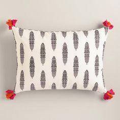 Feathers Printed Lumbar Pillow