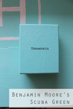 The perfect paint for the Pretty Blue shown on the Tiffany Box from Benjamin Moore. (You cannot use the word Tiffany and the word Blue together. It is trademarked) Color Azul Tiffany, Tiffany Blue Walls, Tiffany Blue Bedroom, Tiffany Blue Paints, Tiffany Blue Kitchen, Blue Paint Colors, Room Colors, House Colors, Color Blue