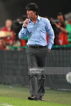 National coach Joachim Loew looks on during the International Friendly match between Germany and Brazil at Mercedes-Benz Arena on August 10, 2011 in Stuttgart, Germany.
